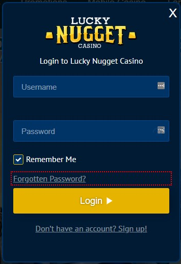login lucky nugget casino