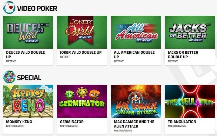 lucky dino casino video poker