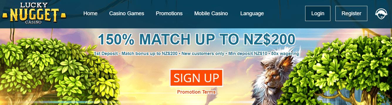 Lucky Nugget Flash Casino Get A 150 Match Up Bonus