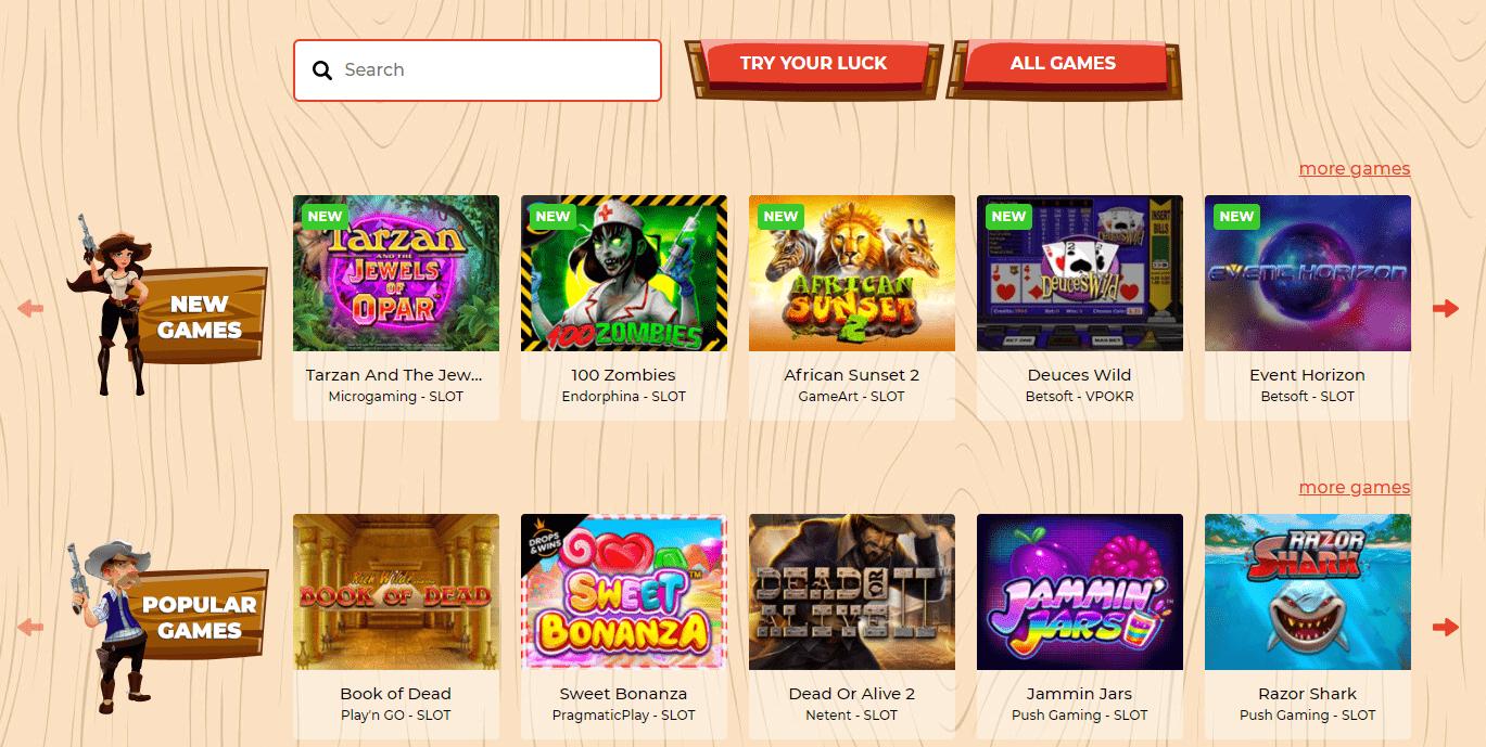 lucky luke casino games