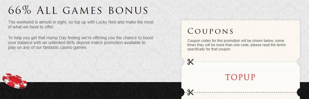 lucky red casino bonus code